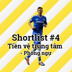 Shortlist #4 – Tiền vệ trung tâm – Phòng ngự