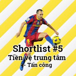Shortlist #5 – Tiền vệ trung tâm – Tấn công