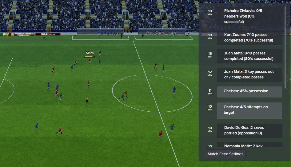 Phân tích trận đấu bằng Match Feeds