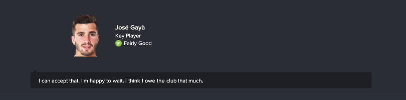 Nói chuyện với cầu thủ muốn ra đi