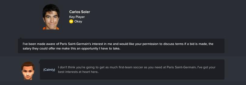Nói chuyện với cầu thủ trẻ muốn ra đi