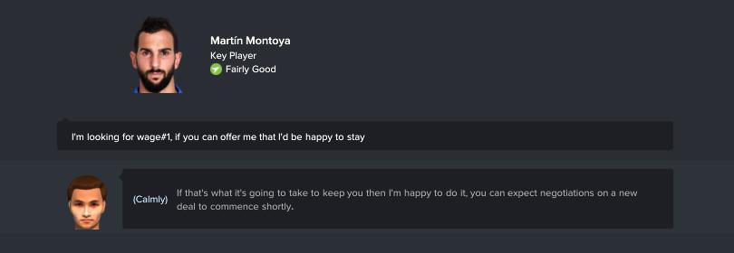 Đề nghị hợp đồng mới khi cầu thủ muốn ra đi